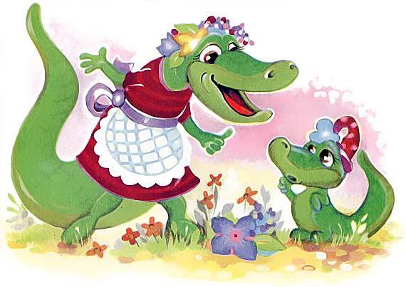 крокодилица и крокоделенок мама и ребенок