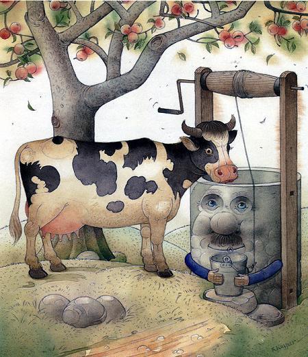 Корова и колодец