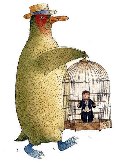 Певчий человек в клетке