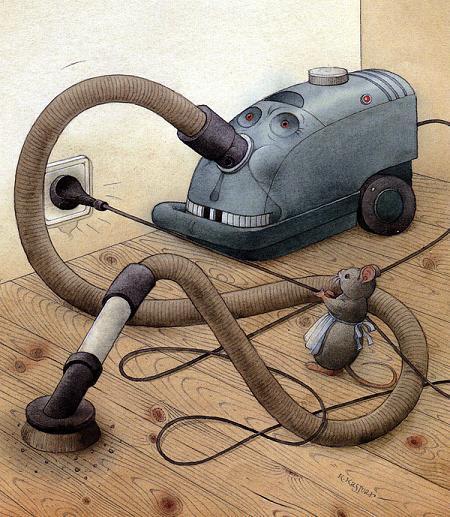 Мышка и чудище пылесос