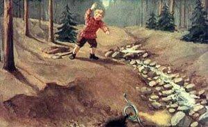 Сказка Голубая змейка, Бажов