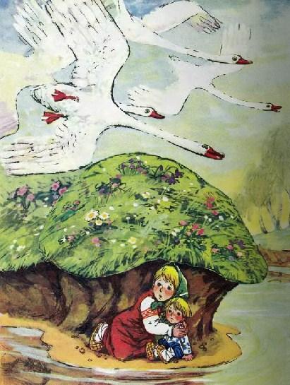 Сказка Гуси-Лебеди, Русская народная сказка