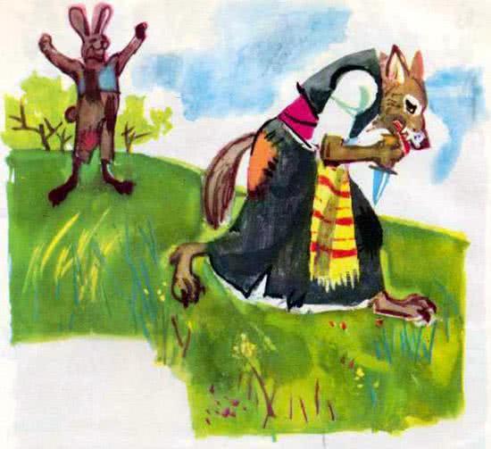 Храбрый заяц и волчица - Ангел Каралийчев