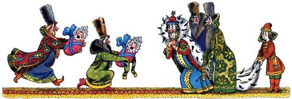бояре несут царю его сына