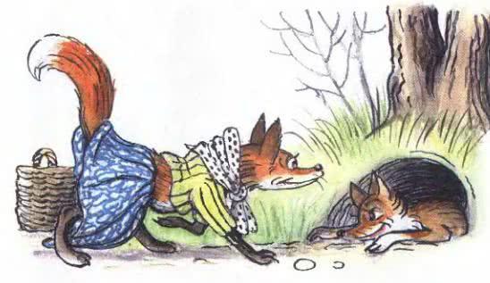 Как две лисы нору делили - Пляцковский М.С.