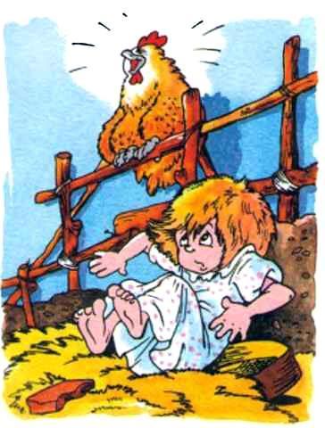 Маша и курица