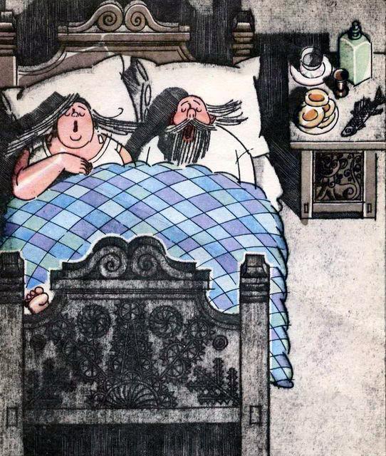 поп и попадья спят