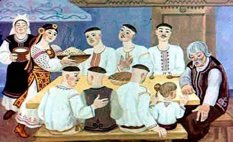 Жил себе один человек, и было у него шестеро сыновей и одна дочка