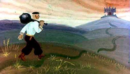 Катигорошек с булавой идет к логову змея