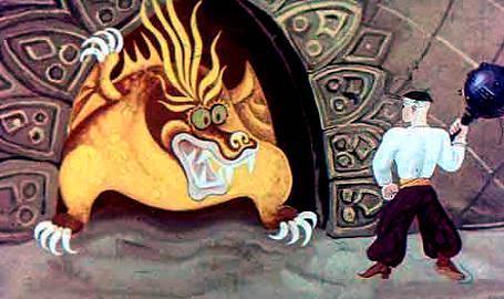 змей и Катигорошек с булавой