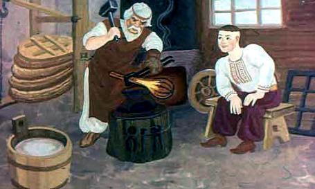 кузнец кует булаву для Катигорошека