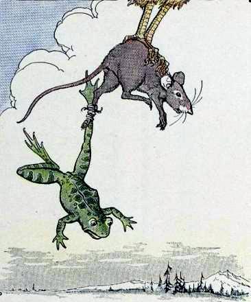Лягушка и мышь
