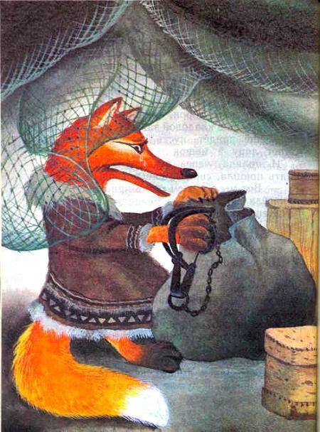 Сказка Лиса и ворон, Сказка народов России