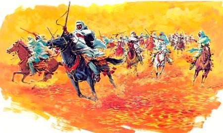 Арабские всадники в бою.