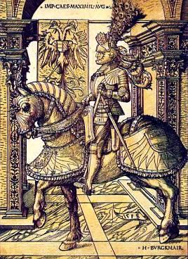 Император Максимилиан I на лошади, 1518 г.