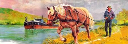В Голландии сегодня, как и в средние века, лошади тянут по каналам баржи с грузами.