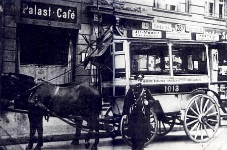 Берлинский конный омнибус 28-го маршрута (ок. то 1910 г.).