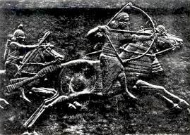 Ассирийский царь на львиной охоте (ок. 650 г, до Р.Х.).