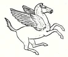 Пегас, крылатый конь греческой мифологии.