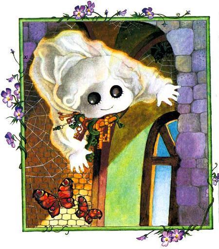 Маленькое привидение летает по замку с ключами