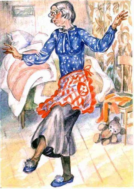 бабушка танцует