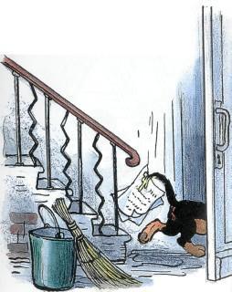 щенок, собака, ушел, уходит, дверь