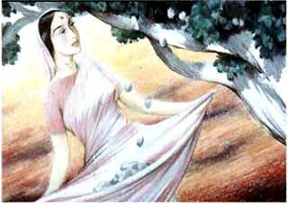 Мотхо растянуло край своего покрывала. Дерево тряхнуло ветками, и с них посыпались большие спелые сливы.