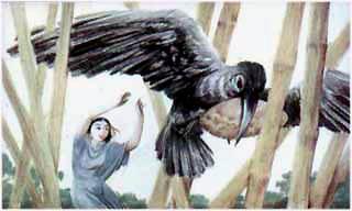 пирог схватила ворона и улетела.