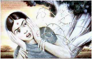 Мунго изранила себе лицо и руки об острые колючки.