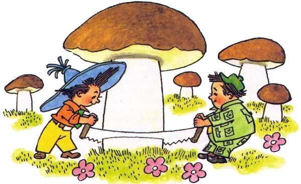 Незнайка пилит гриб
