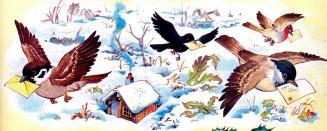 птицы несут письма зима