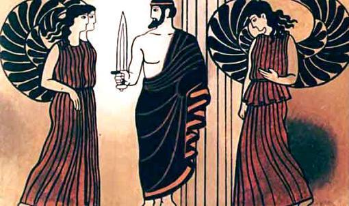 бог Смерти, а вокруг него толпились прислужницы его, Керы