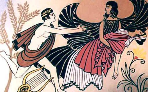 Смерть уносила Эвридику в подземное царство