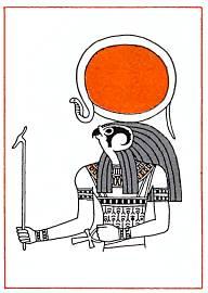 Ра, бог солнца, создатель мира и людей.
