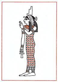 Исида, богиня мудрости, материнства, плодородия.