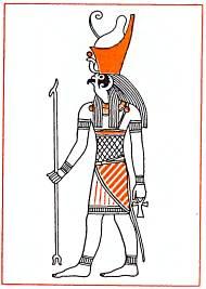 Гор, бог-покровитель фараона, сын Осириса и Исиды.