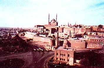 Нынешняя столица Египта Каир с цитаделью и мечетью Алабастер