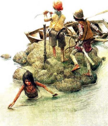 дети на рифе