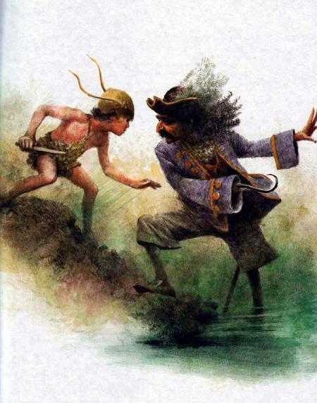 Питер Пэн и капитан Крюк Пират бой борьба