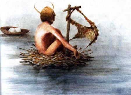 Питер Пэн на маленьком плоту