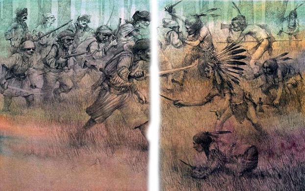 капитан Крюк Пират пираты против индейцев битва бой война