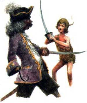 Питер Пэн и капитан Крюк Пират