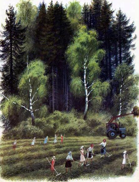 женщины работают на поле
