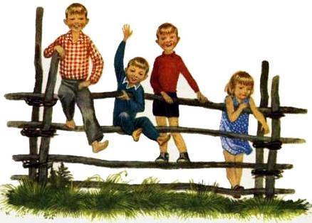 дети на заборе