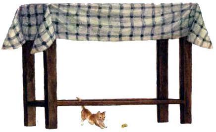 котенок под столом