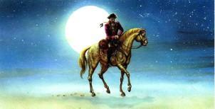 барон Мюнхаузен на коне