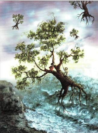 деревья вырвало с корнем и носит по воздуху