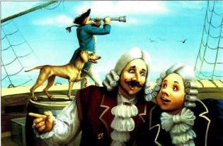 на корабле пес барона