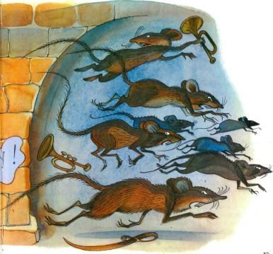 мыши бегут в панике