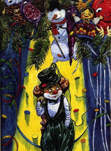 новогодние игрушки Клоун